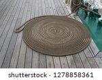 old classic tall ship part deck ...   Shutterstock . vector #1278858361