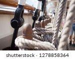 old classic tall ship part deck ...   Shutterstock . vector #1278858364
