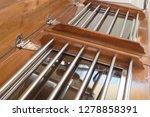 old classic tall ship part deck ...   Shutterstock . vector #1278858391