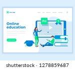 landing page template online... | Shutterstock .eps vector #1278859687