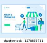 landing page template social... | Shutterstock .eps vector #1278859711