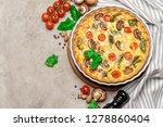 baked homemade quiche pie in...   Shutterstock . vector #1278860404