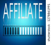 affiliate word with blue... | Shutterstock . vector #1278861991