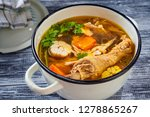 hearty and nutritious rooster... | Shutterstock . vector #1278865267