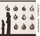 fire flame set for design | Shutterstock .eps vector #127886717