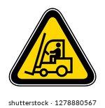triangular yellow warning... | Shutterstock .eps vector #1278880567