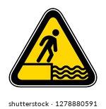 triangular yellow warning... | Shutterstock .eps vector #1278880591