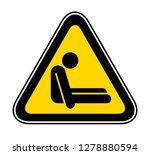 triangular yellow warning... | Shutterstock .eps vector #1278880594