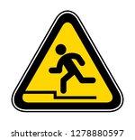 triangular yellow warning... | Shutterstock .eps vector #1278880597