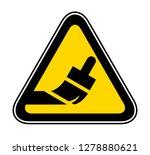 triangular yellow warning... | Shutterstock .eps vector #1278880621