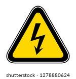 triangular yellow warning... | Shutterstock .eps vector #1278880624