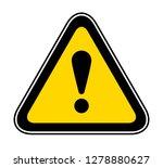 triangular yellow warning... | Shutterstock .eps vector #1278880627