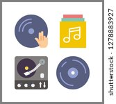 4 disc icon. vector... | Shutterstock .eps vector #1278883927