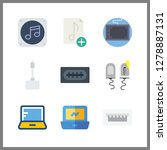 9 portable icon. vector... | Shutterstock .eps vector #1278887131