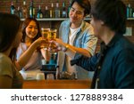 group of friend enjoy drinking... | Shutterstock . vector #1278889384