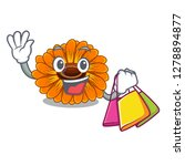 shopping calendula flowers in a ...   Shutterstock .eps vector #1278894877