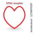heart shape. heart vector. hand ... | Shutterstock .eps vector #1278899287