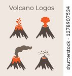 volcano magma nature blowing up ... | Shutterstock .eps vector #1278907534