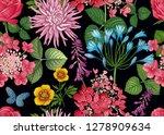 field and garden flowers.... | Shutterstock .eps vector #1278909634