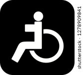 vector handicapped icon    Shutterstock .eps vector #1278909841