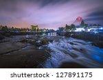 River And Waterfalls At Night...