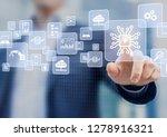 digital transformation change... | Shutterstock . vector #1278916321