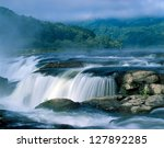 Sandstone Falls At Sunrise Wes...