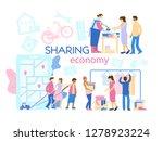 sharing economy concept banner. ... | Shutterstock .eps vector #1278923224