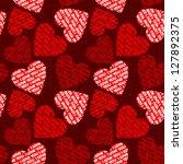 Valentines Seamless Background.