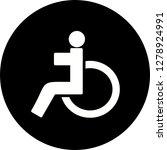 vector handicapped icon    Shutterstock .eps vector #1278924991