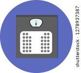 vector weighting machine icon    Shutterstock .eps vector #1278937387