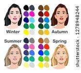 seasonal color analysis. set of ... | Shutterstock .eps vector #1278948244