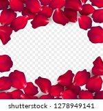 falling red rose petals... | Shutterstock .eps vector #1278949141
