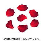 falling red rose petals... | Shutterstock .eps vector #1278949171