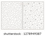 set of contour illustrations of ... | Shutterstock .eps vector #1278949387