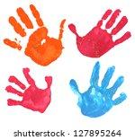 several multicolored children... | Shutterstock . vector #127895264