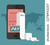 mobile payment concept. pay... | Shutterstock .eps vector #1278953257