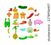 manual labor icons set. cartoon ... | Shutterstock .eps vector #1278956407
