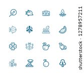 editable 16 nature icons for... | Shutterstock .eps vector #1278957211