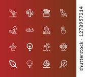 editable 16 botany icons for... | Shutterstock .eps vector #1278957214