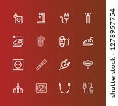 editable 16 cord icons for web... | Shutterstock .eps vector #1278957754