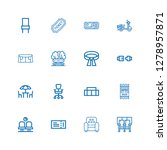 editable 16 seat icons for web... | Shutterstock .eps vector #1278957871
