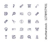 editable 25 manual icons for...   Shutterstock .eps vector #1278957931