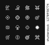 editable 16 aspirations icons... | Shutterstock .eps vector #1278958774