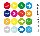 set  3 of round icons with... | Shutterstock .eps vector #127895939