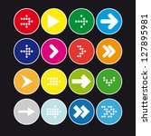 set  3 of round icons with...   Shutterstock .eps vector #127895981