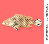 fish label design. abstract... | Shutterstock .eps vector #1278960217
