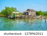 the small fishing village with... | Shutterstock . vector #1278962011
