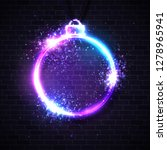 christmas neon sign. xmas...   Shutterstock .eps vector #1278965941