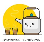 vector illustration of tea pot... | Shutterstock .eps vector #1278972907